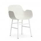 Scaun living Normann Copenhagen Form Steel Legs white
