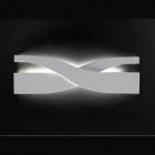 Aplica Applique SN FIFI 2G11 40cm metallo bianco foglia oro argento mo