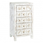 Dulap living DRAWERS SEA WORN WHITE WOOD METAL 48 X 34 50 X 90 50 CM