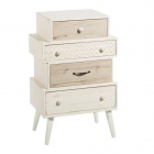 Dulap living AUXILIARY FURNITURE NATURAL WHITE 50 X 34 X 76 CM