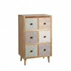 Dulap living FURNITURE 6 DRAWERS NATURAL WAY 57 X 37 X 92 CM