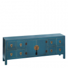 Dulap living FURNITURE 8 DRAWERS BLUE MDF 130 X 24 X 50 50 CM