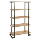Raft living SHELVING NATURAL BLACK WOOD METAL 91 40 X 33 80 X 157 50 C