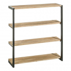 Raft living SHELVING NATURAL GREY WOOD METAL 61 X 18 X 66 CM
