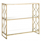 Raft living SHELVING 3 SHELVES GOLD METAL MIRROR 91 50 X 30 50 X 81 CM
