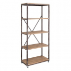 Raft living SHELVING 5 SHELVES NATURAL GREY 80 X 40 X 190 CM