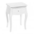 Masuta cafea LITTLE TABLE 1 DRAWER WHITE MDF WOOD 42 X 35 X 59 CM
