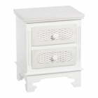 Masuta cafea LITTLE TABLE 2 DRAWERS WHITE MDF WOOD 37 X 33 50 X 53 CM