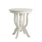 Masuta cafea AUXILIARY TABLE WORN WHITE WOOD 60 X 60 X 70 CM