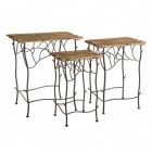 Masuta cafea S 3 LITTLE TABLES NATURAL WAY 55 50 X 39 X 61 50 CM