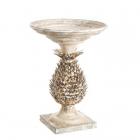 Masuta cafea LITTLE TABLE PINEAPPLE WHITE GOLD METAL 49 50 X 49 50 X 6