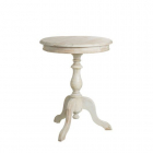 Masuta cafea AUXILIARY TABLE WORN WHITE WOOD 50 X 50 X 64 CM