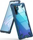 Ringke Protectie pentru spate Fusion X Blue Transparent pentru Huawei