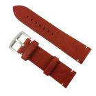 Curea de ceas din piele natural maro 24mm WZ2877