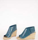 8cm Leather Sandals with Wedge