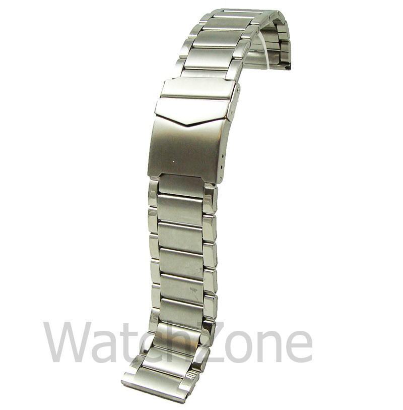 Bratara de Ceas Argintie cu Siguranta 18mm-24mm WZ842