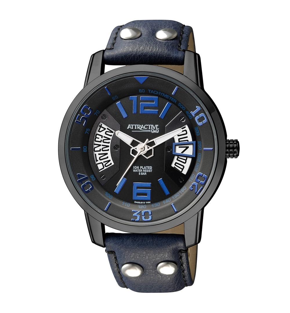 Ceas Barbatesc Q&Q Coupe Dark Blue