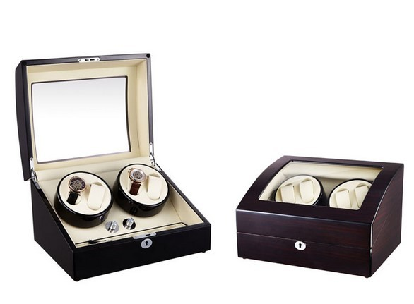 Dispozitiv pentru intors ceasuri automatice Watch Winder 4 + 6 Spatii Nuc WW1582