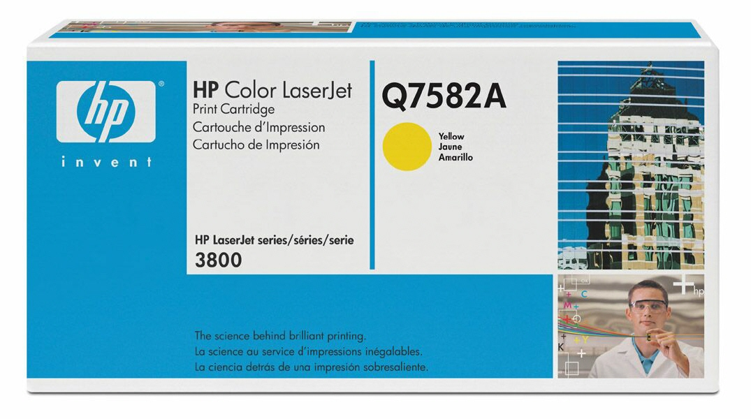Cartus: HP Color LaserJet 3800, CP3505 Series WITH CHIP - Yellow