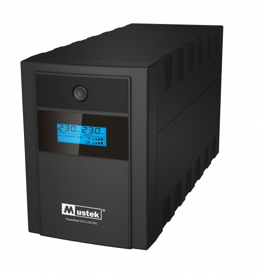 UPS MUSTEK PowerMust 2212 LCD (2200VA) Line Interactive, IEC (include timbru verde 3 lei)