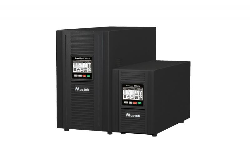 UPS MUSTEK PowerMust 1080 online LCD (1KVA), IEC (include timbru verde 3 lei)