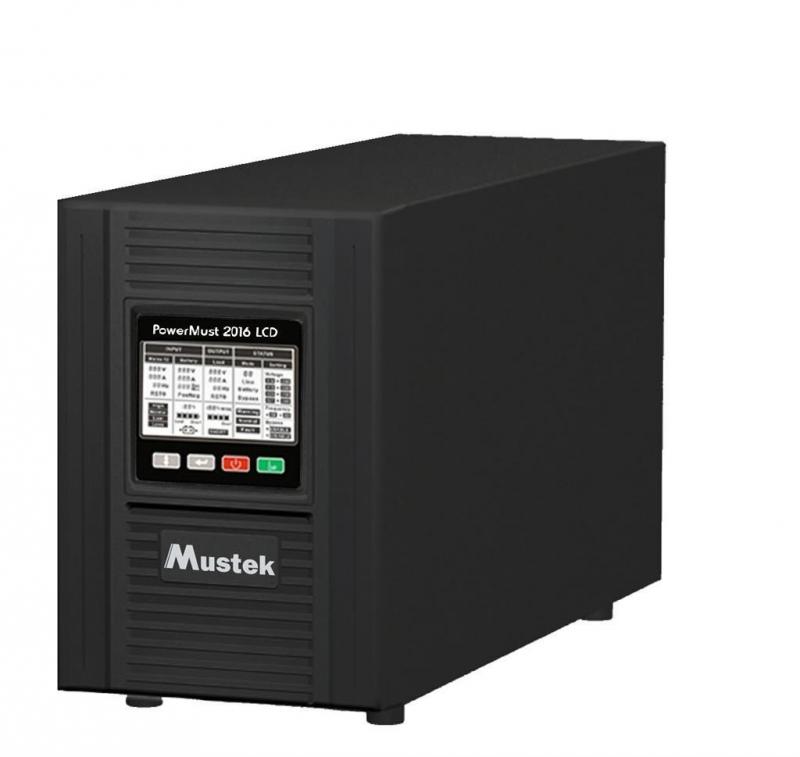 UPS MUSTEK PowerMust 2016 online LCD (2KVA), IEC (include timbru verde 3 lei)