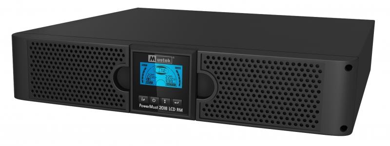 UPS MUSTEK. PowerMust 2018 online LCD RM (2KVA), IEC (include timbru verde 3 lei)