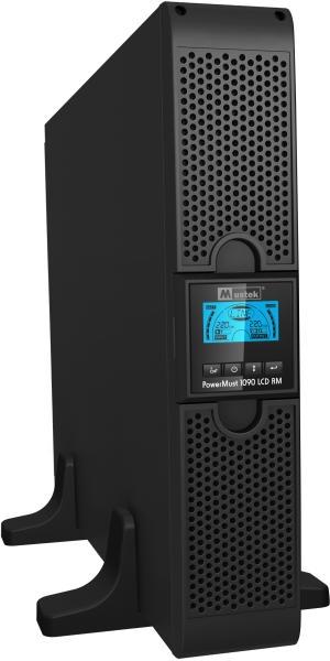 UPS MUSTEK. PowerMust 1090 online LCD RM (1KVA), IEC (include timbru verde 3 lei)