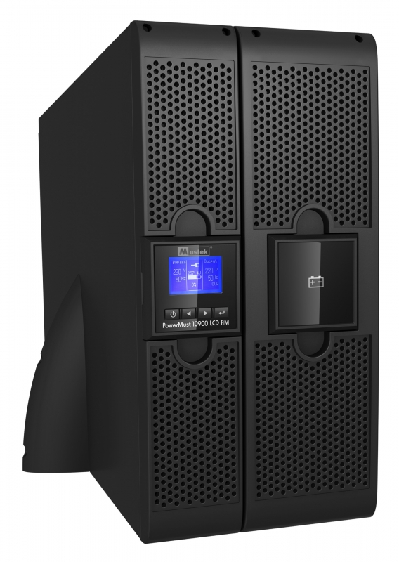 UPS MUSTEK. PowerMust 10900 online LCD RM (10KVA), IEC (include timbru verde 3 lei)