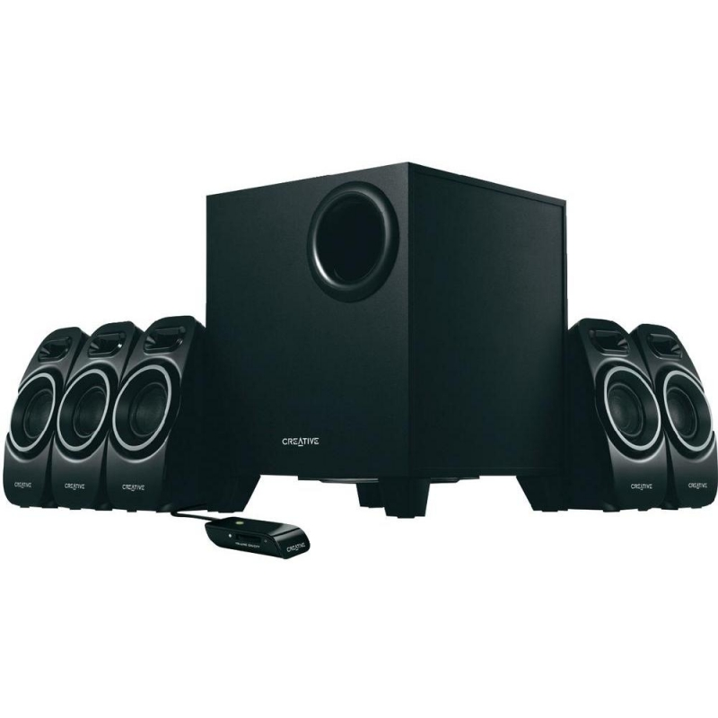 BOXE 5.1 CREATIVE 'Inspire A550', RMS: 5Wx5 + 12W, black, wired remote, DSE '51MF4120AA000' (include timbru verde 1 leu)