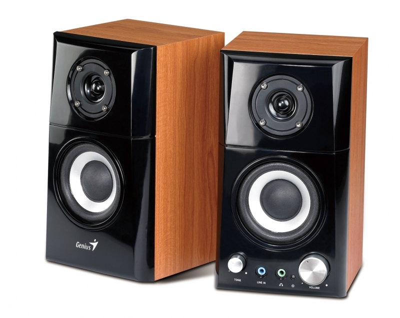 BOXE 2.0 GENIUS 'SP-HF500A', RMS: 7Wx2, black&cherry wood, jack casti, line in '31730905100' , BOXSP-HF500A (include timbru verde 1 leu)