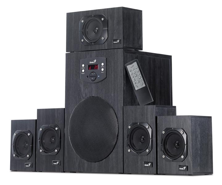 BOXE 5.1 GENIUS 'SW-HF5.1 4500', RMS: 16Wx5 + 45Wx1, black, telecomanda '31730979100' (include timbru verde 1 leu)
