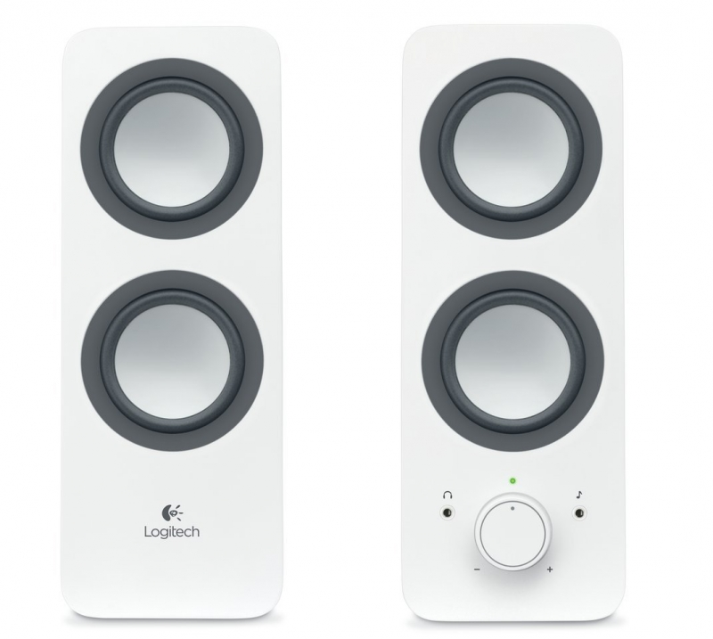 BOXE Logitech 2.0 'Z200' RMS power: 10 W , White '980-000811' (include timbru verde 1 leu)