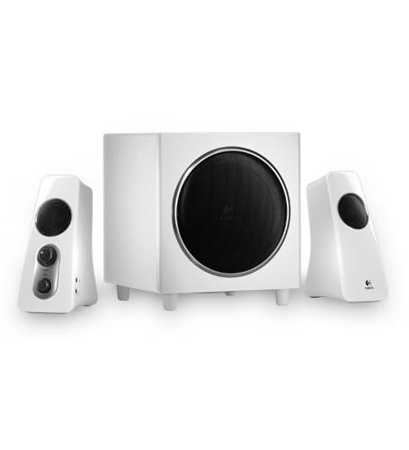 BOXE Logitech 2.1 'Z523' RMS power: 40 W (21W + 2 x 9.5W), All-around sound, White '980-000367' (include timbru verde 1 leu)