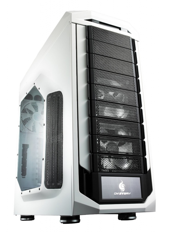 CARCASA CM STORM. Stryker, window version, full-tower, XL-ATX, 2* 120mm white LED fan & 1* 200mm fan & 1* 140mm (inclus), I/O panel, white 'SGC-5000W-KWN1'