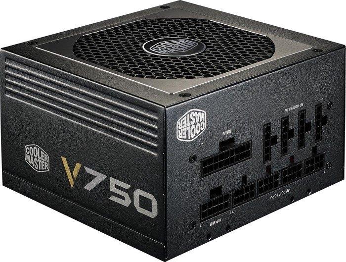 SURSA COOLER MASTER V750 v2, 750W (real), fan 120mm, 80 Plus Gold, 4x PCI-E (6+2), 8x S-ATA, modulara 'RS750-AFBAG1-EU'