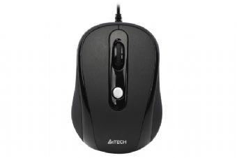 Mouse Optic USB A4TECH V-Track (N-250X-1), Black, wired cu 3 butoane si 1 rotita scroll, rezolutie 1000-2000dpi si cablu 60cm