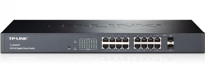 Switch Web Smart Gigabit 16 porturi TP-LINK TL-SG2216 - doua sloturi SFP