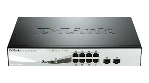 PoE (Power Over Ethernet) Switch Smart 8-port-uri PoE Gigabit + 2 SFP ports, D-Link 'DGS-1210-08P'