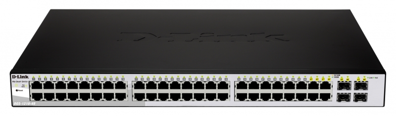 Switch Smart 48 port-uri Gigabit, incl. 4 sloturi Combo Gigabit/SFP, 19inch 1U rack-mountable, D-LINK 'DGS-1210-48'