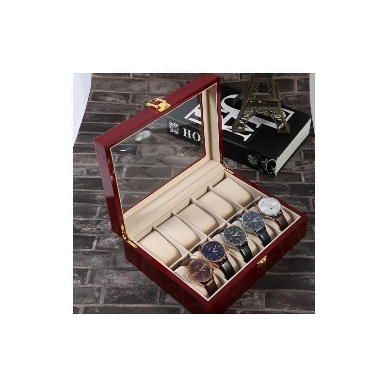 Cutie depozitare 12 ceasuri lemn - RESIGILATA