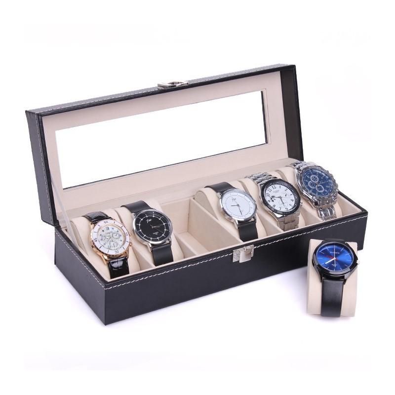 RESIGILAT Cutie depozitare si organizare 12 ceasuri ALBA LS33