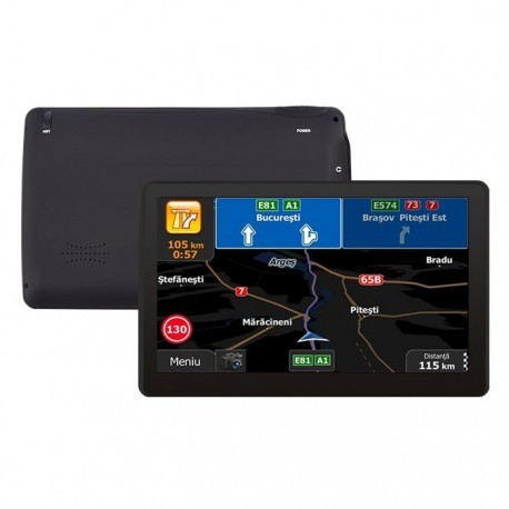 "Gps Auto Navigator Techstar M9X cu 256 Ram Windows, cu Display de 7"" Capacitiv"
