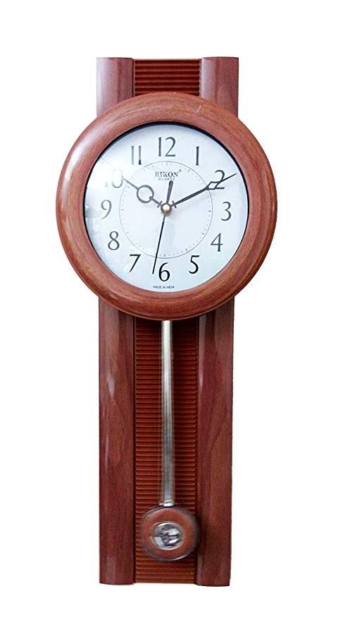 Ceas de perete cu pendula Rikon 5102PND Black Wood